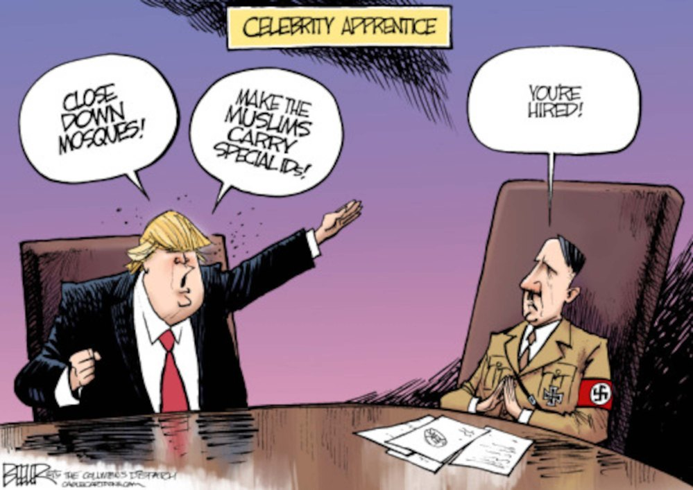 Hitler's modern day heirs: Trump, Duterte and Putin.